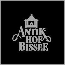 Referenz: Antik Hof Bissee mit Logo